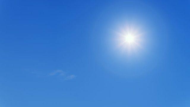 夏の暑さがひしひしと伝わる太陽の画像です。