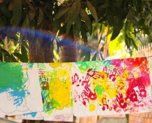 子どものアート作品の写真です