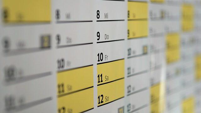 カレンダーの写真です