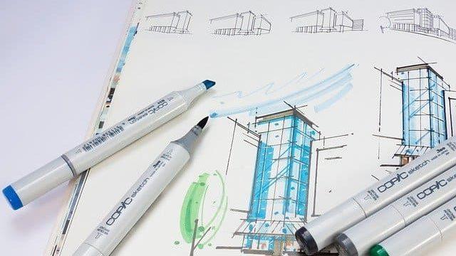 建築のスケッチイメージ