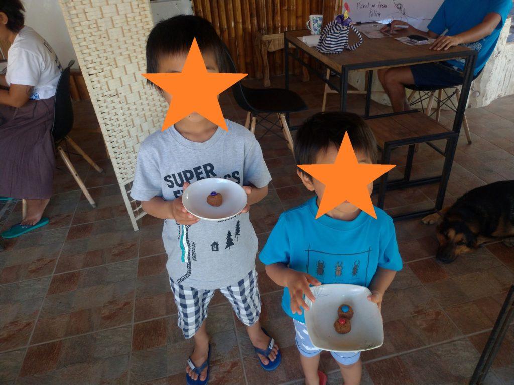 グラハムボールを作って来てくれた子どもたち